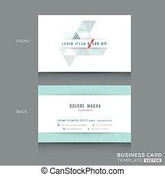 三角形, テンプレート, ビジネス, デザイン, カード, きれいにしなさい, 最小である