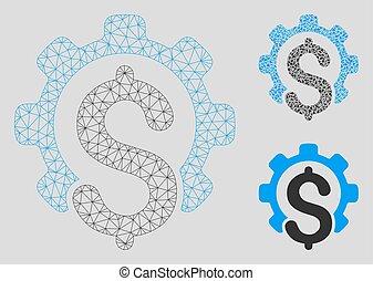 三角形, ネットワーク, 産業, 噛み合いなさい, ベクトル, 財政, モデル, モザイク, アイコン