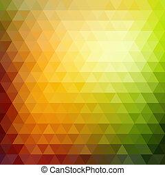 三角形, パターン, 形, レトロ, 幾何学的, モザイク