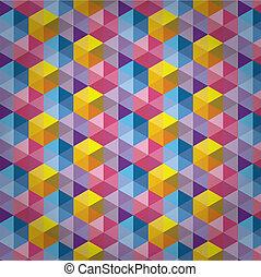 三角形, パターン, 背景