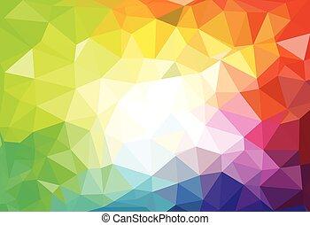 三角形, パターン, shapes., 背景, 幾何学的, モザイク