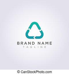 三角形, ビジネス, ブランド, あなたの, デザイン, ロゴをリサイクルしなさい, ∥あるいは∥