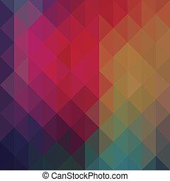 三角形, 幾何学的, ネオン, 背景