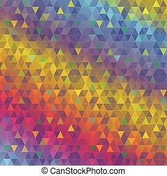 三角形, 抽象的, カラフルである, 背景, イラスト