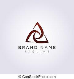 三角形, 抽象的, ベクトル, デザイン, ロゴ, アイコン