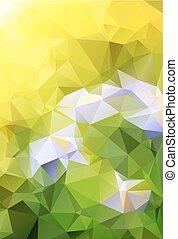 三角形, 抽象的, 自然, 背景, カラフルである