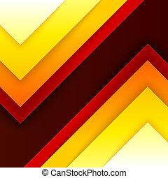 三角形, 抽象的, 黄色, 形, オレンジ, 赤