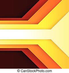 三角形, 抽象的, 黄色, 形, ペーパー, 背景, オレンジ, 赤