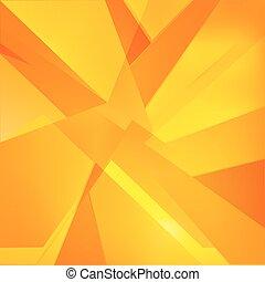 三角形, 抽象的, 黄色, 秋, オレンジ, 背景, 赤