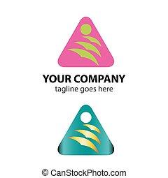 三角形, 矢量, 标识语, 图标, 带, 鸟