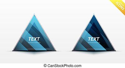 三角形, 矢量, 設計, 事務, 元素