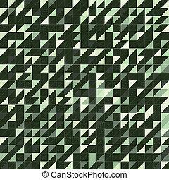 三角形, 綠色, 結構