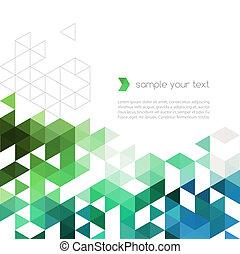 三角形, 色, 抽象的, 形, 背景, 技術