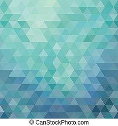 三角形, 藍色, 摘要, 背景