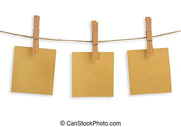 三, 卡片, ......的, 回收, 紙, 暫停執行在上, a, 晒衣繩