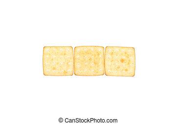 三, 餅干, 在, a, row.