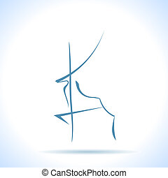 上げられた, グラフィック, 足, -, シンボル, 鹿