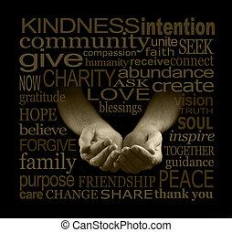 上げること, 慈善, 資金