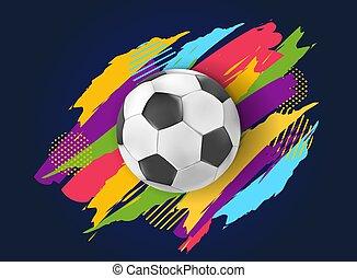 上に, ∥あるいは∥, サッカー, 背景, ボール, フットボール, カラフルである