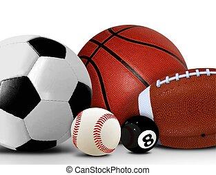 上に, ボール, スポーツ, 白, レジャー