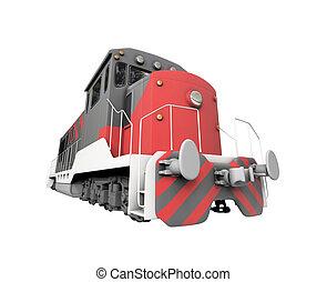 上に, 列車, ディーゼル, 白