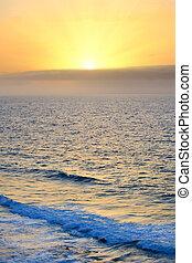 上に, 大西洋, 日の出, 海洋