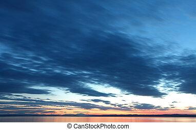 上に, 日の入海