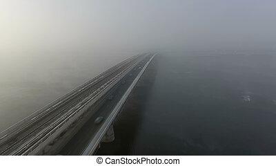 上に, 霧, kiev, 侵入する