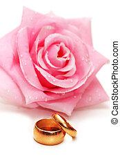 上升, 戒指, 二, 被隔离, 婚禮, 白色