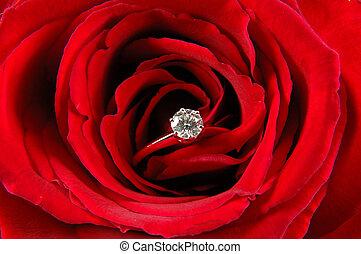 上升, 戒指, 約會, 紅色