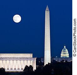 上升, 華盛頓特區, 月亮