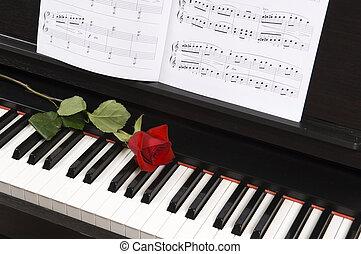 上升, 鋼琴, 圖表音樂