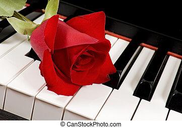 上升, 鋼琴, 紅色