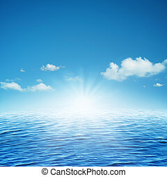 上升, sun., 摘要, 自然, 背景