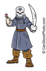 上尉, 海盜, 由于, 劍, 以及, 上升