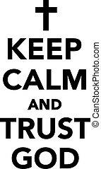 上帝, 信任, 平靜, 保持