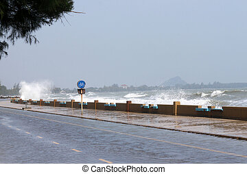 上昇する嵐, 海, サージ