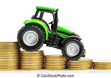 上昇する経費, 農業