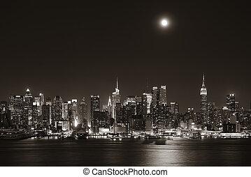 上昇, マンハッタン, 月