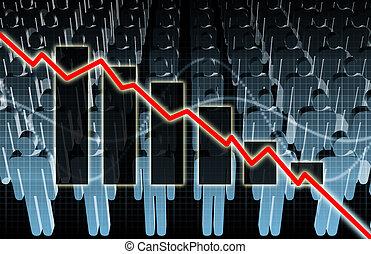 上昇, 失業