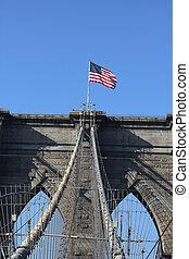上, アメリカ人, 有名, 旗
