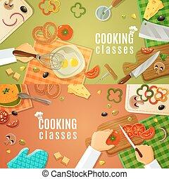 上, クラス, 料理, 光景