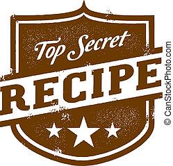 上, レシピ, 秘密