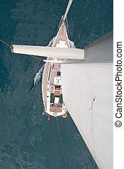 上, 帆走しているボート, 光景
