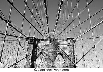 上, 旗, ブルックリン 橋