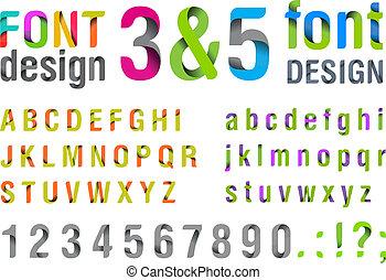 上, 最新流行である, font., new.
