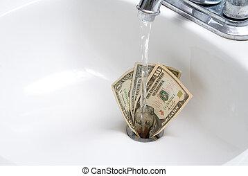 下來, 錢, 流水