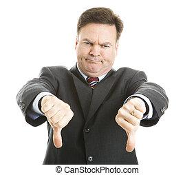 下方に, 上司, 親指, 2, 与える