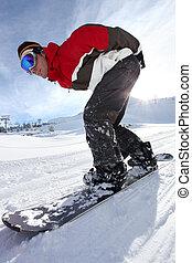 下方に, 麻薬常習者, アドレナリン, snowboard, 丘
