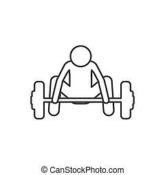 下来, 侧面影象, weightlifting, 人